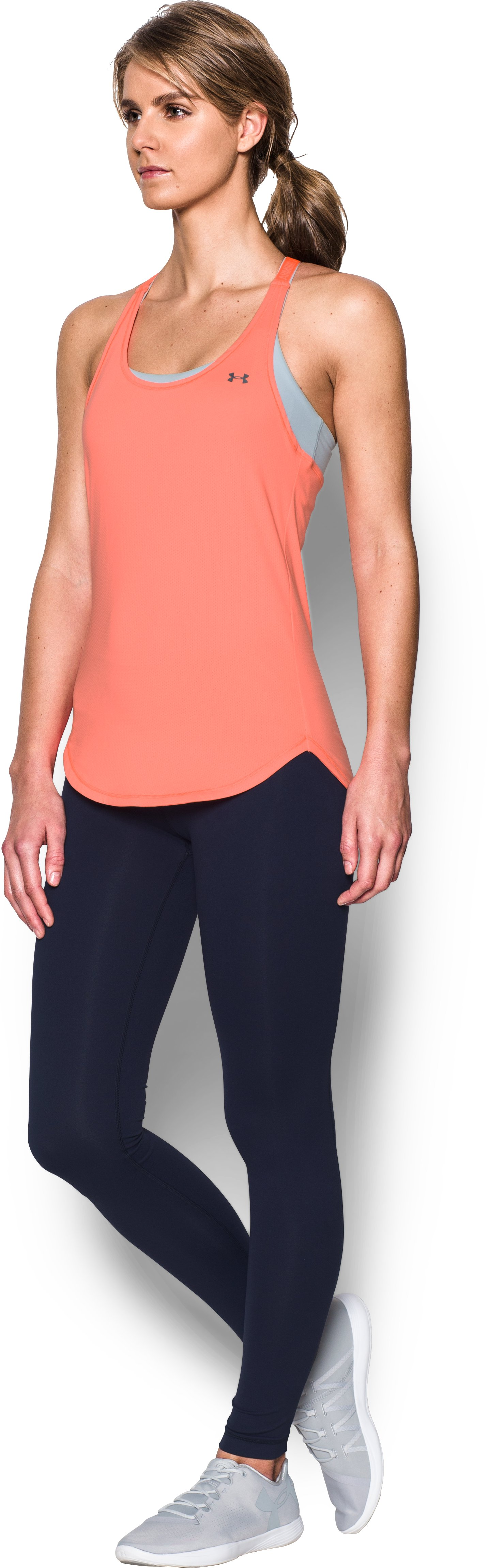 Women's UA HeatGear® Armour CoolSwitch Tank, LONDON ORANGE,