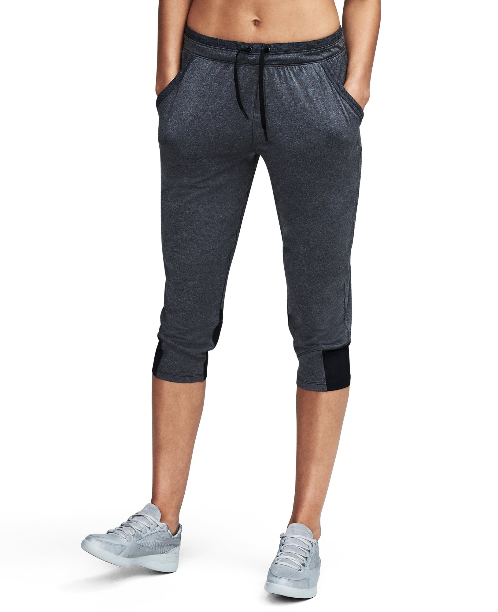Women's UA Got Game Ankle Crop, Carbon Heather,