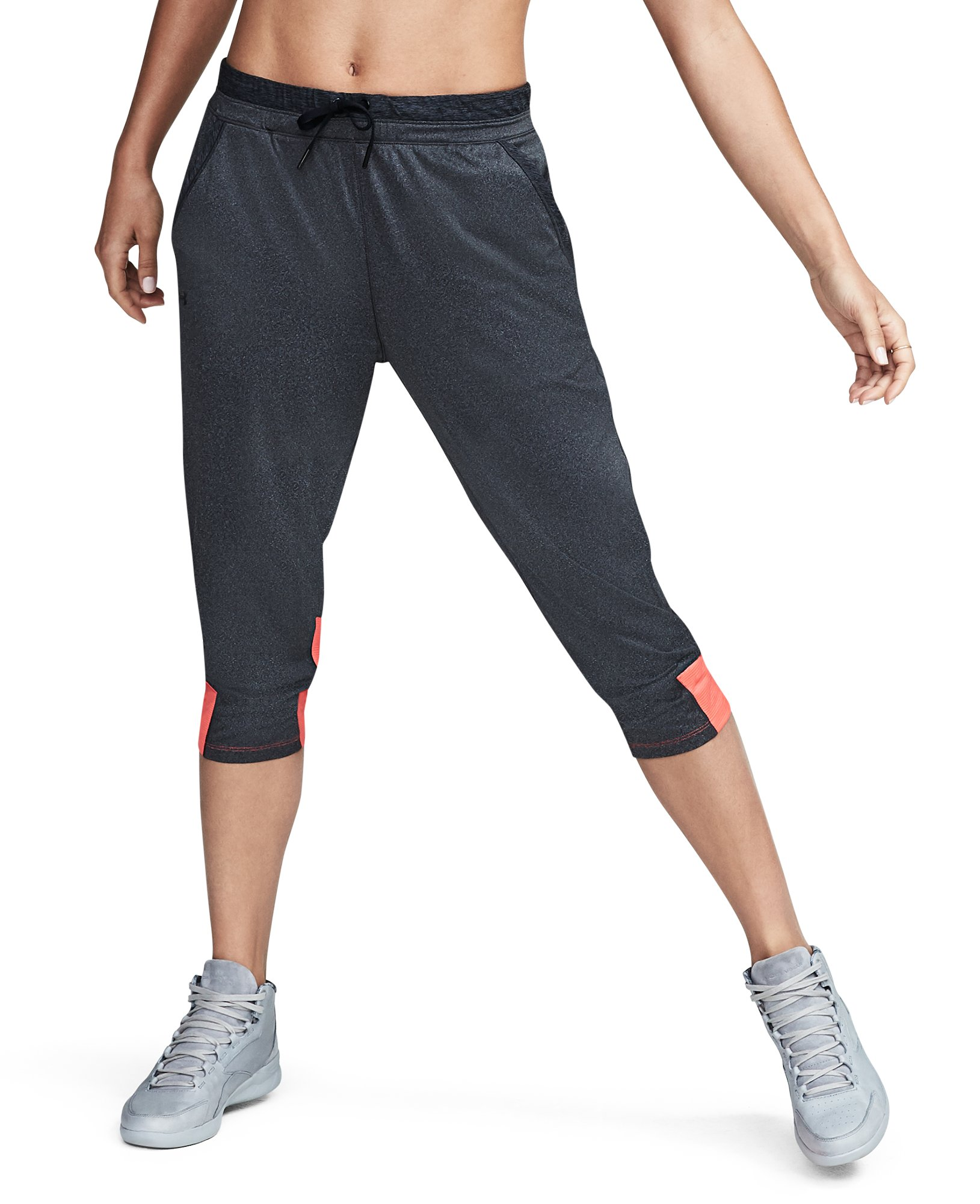 Women's UA Got Game Ankle Crop, Carbon Heather