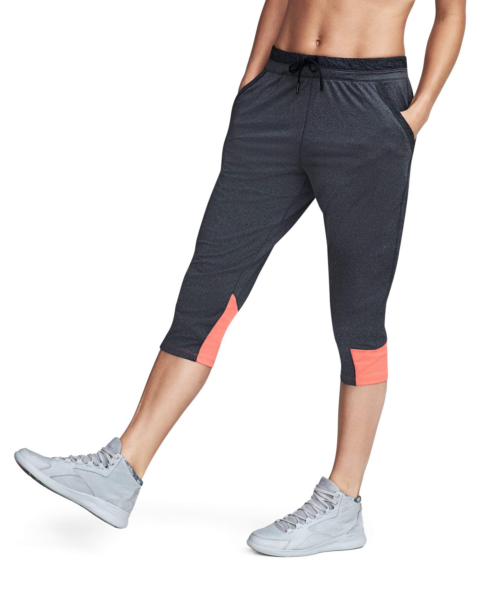 Women's UA Got Game Ankle Crop, Carbon Heather, undefined