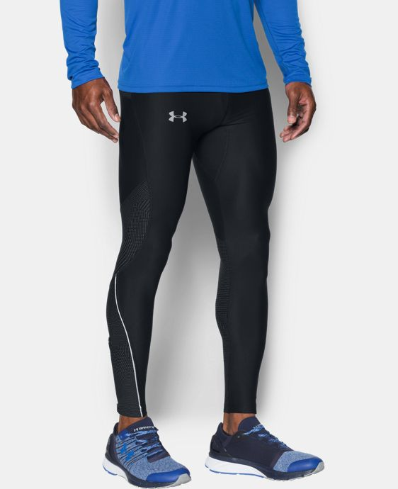 New Arrival Men's UA No Breaks Printed Run Leggings  1 Color $69.99