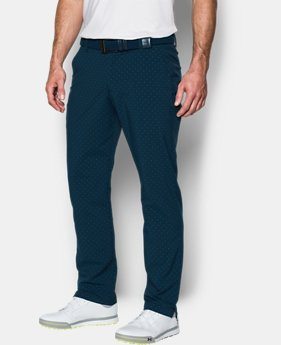 Men's UA Match Play Tapered Houndstooth Pants  1 Color $89.99