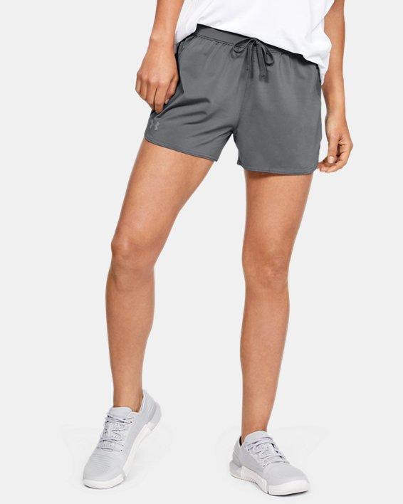 Women's UA Game Time Shorts, Gray, pdpMainDesktop image number 3