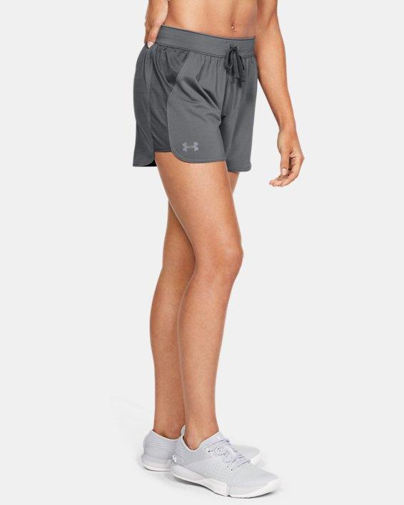 Women's UA Game Time Shorts, Gray, pdpMainDesktop image number 1
