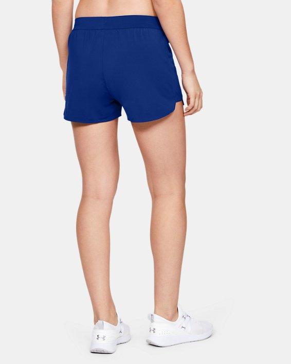 Women's UA Game Time Shorts, Blue, pdpMainDesktop image number 4