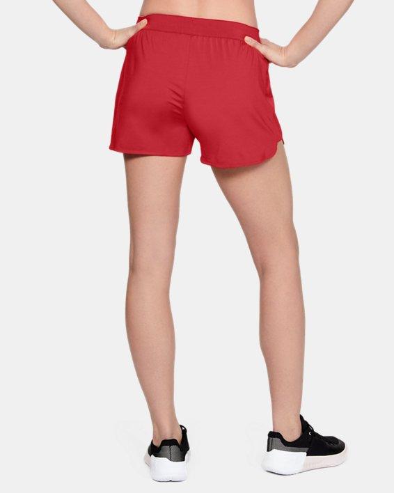 Women's UA Game Time Shorts, Red, pdpMainDesktop image number 4