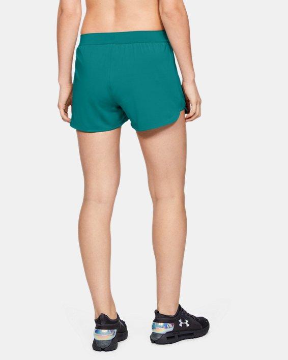 Women's UA Game Time Shorts, Green, pdpMainDesktop image number 3