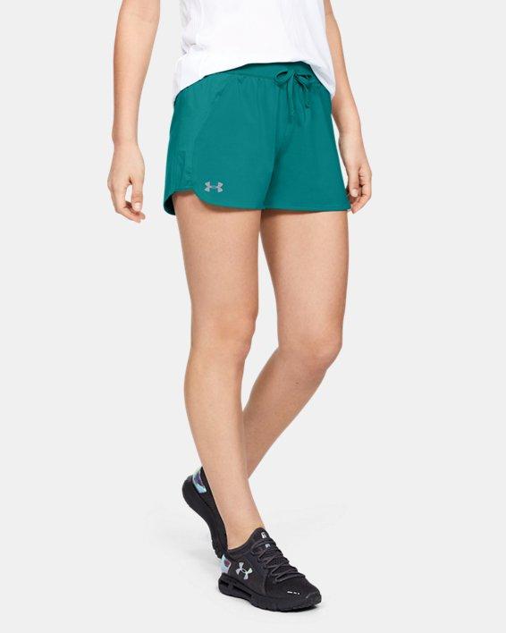 Women's UA Game Time Shorts, Green, pdpMainDesktop image number 2