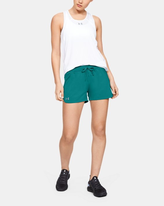 Women's UA Game Time Shorts, Green, pdpMainDesktop image number 1