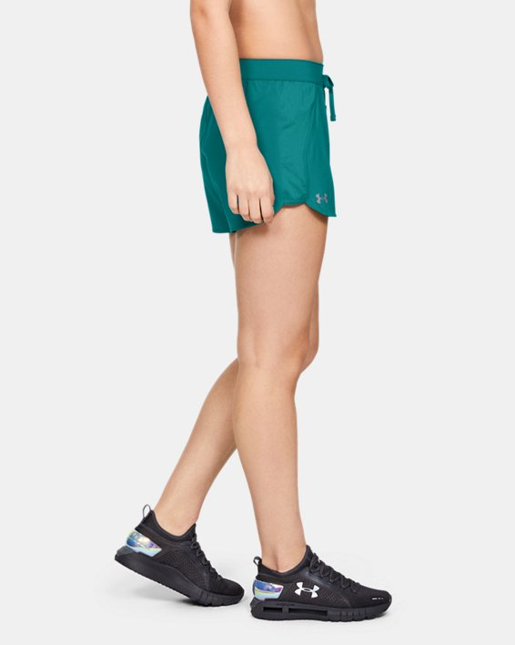 Women's UA Game Time Shorts, Green, pdpMainDesktop image number 0