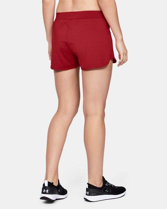 Women's UA Game Time Shorts, Red, pdpMainDesktop image number 3