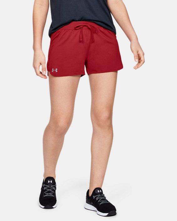 Women's UA Game Time Shorts, Red, pdpMainDesktop image number 2