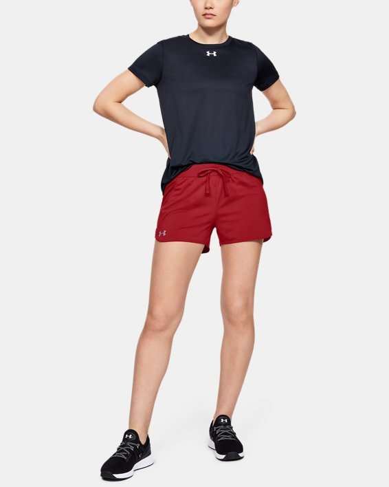 Women's UA Game Time Shorts, Red, pdpMainDesktop image number 1