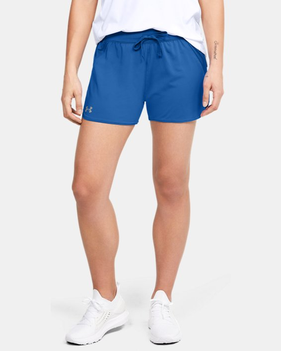 Women's UA Game Time Shorts, Blue, pdpMainDesktop image number 2