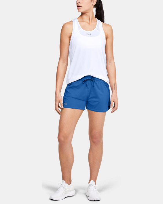 Women's UA Game Time Shorts, Blue, pdpMainDesktop image number 1