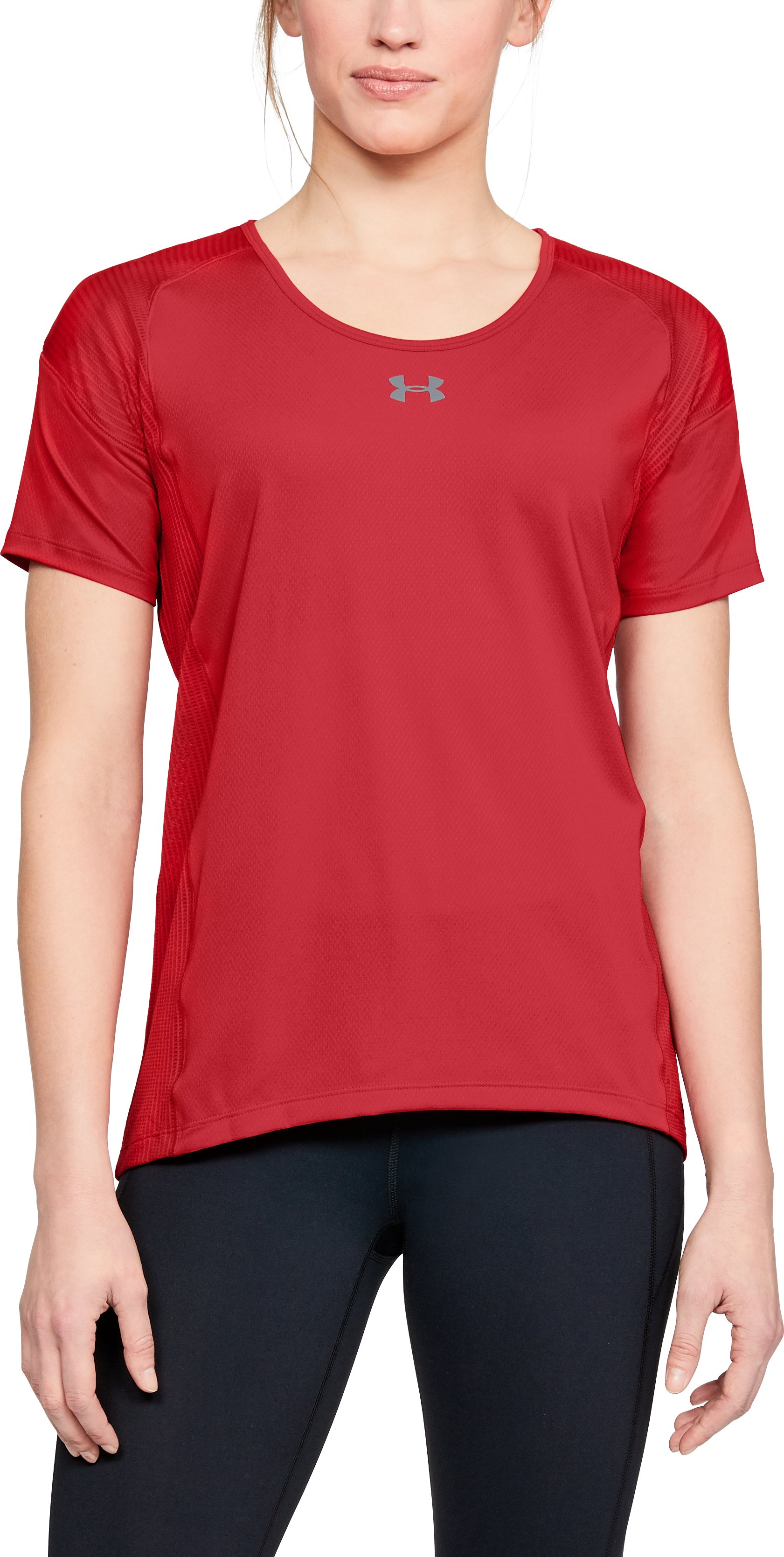 red t-shirt Women's UA Game Time T-Shirt Awesome Shirt!...Love this shirt!!...Very comfortable shirt and I plan to buy more colors.