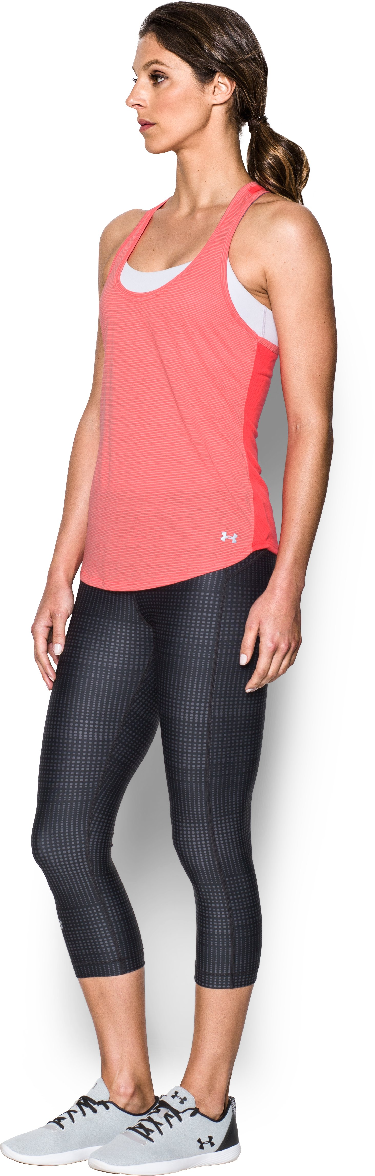 Women's UA Threadborne Mesh Tank, MARATHON RED,