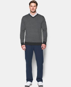 Men's UA Feeder Stripe V-Neck Sweater  1 Color $139.99