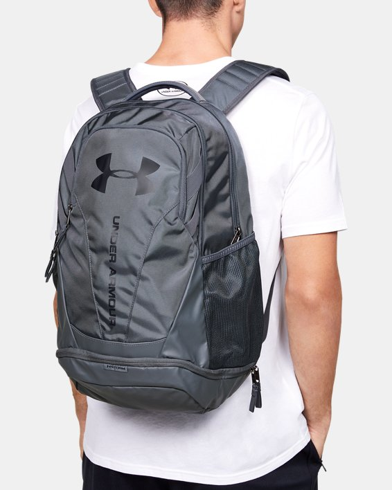 Men's UA Hustle 3.0 Backpack, Gray, pdpMainDesktop image number 0