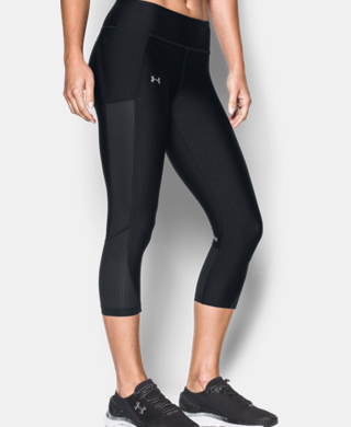 Women's UA Fly-By Mesh Inset Capris