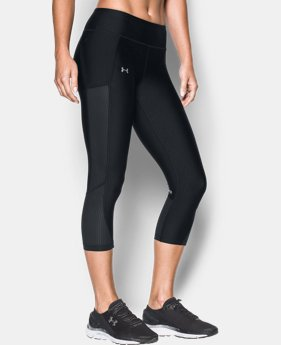 New to Outlet Women's UA Fly-By Mesh Inset Capris  1 Color $38.99
