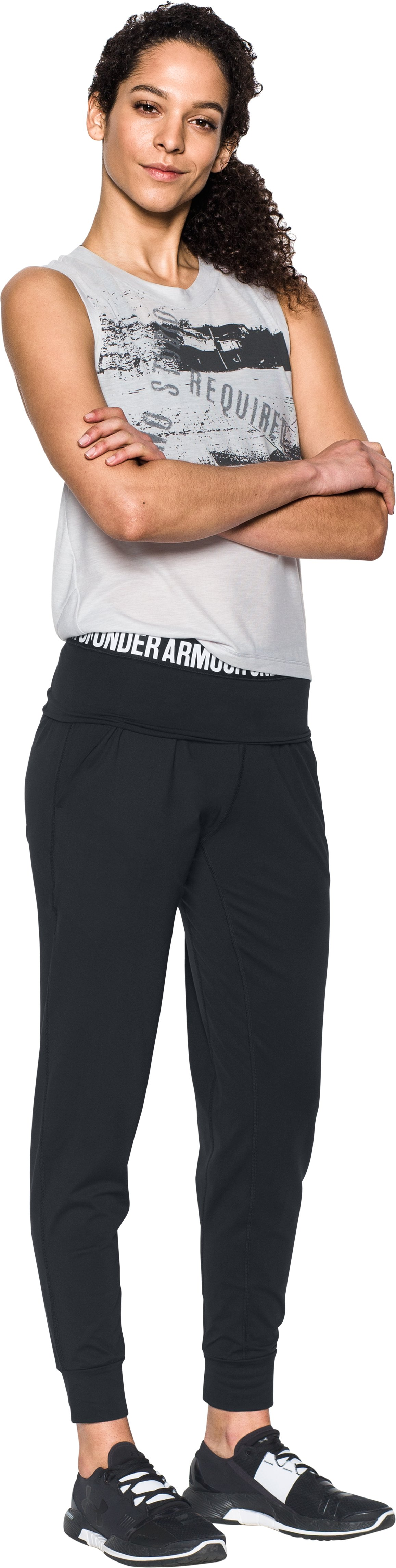 Women's UA Uptown Joggers, Black , Front