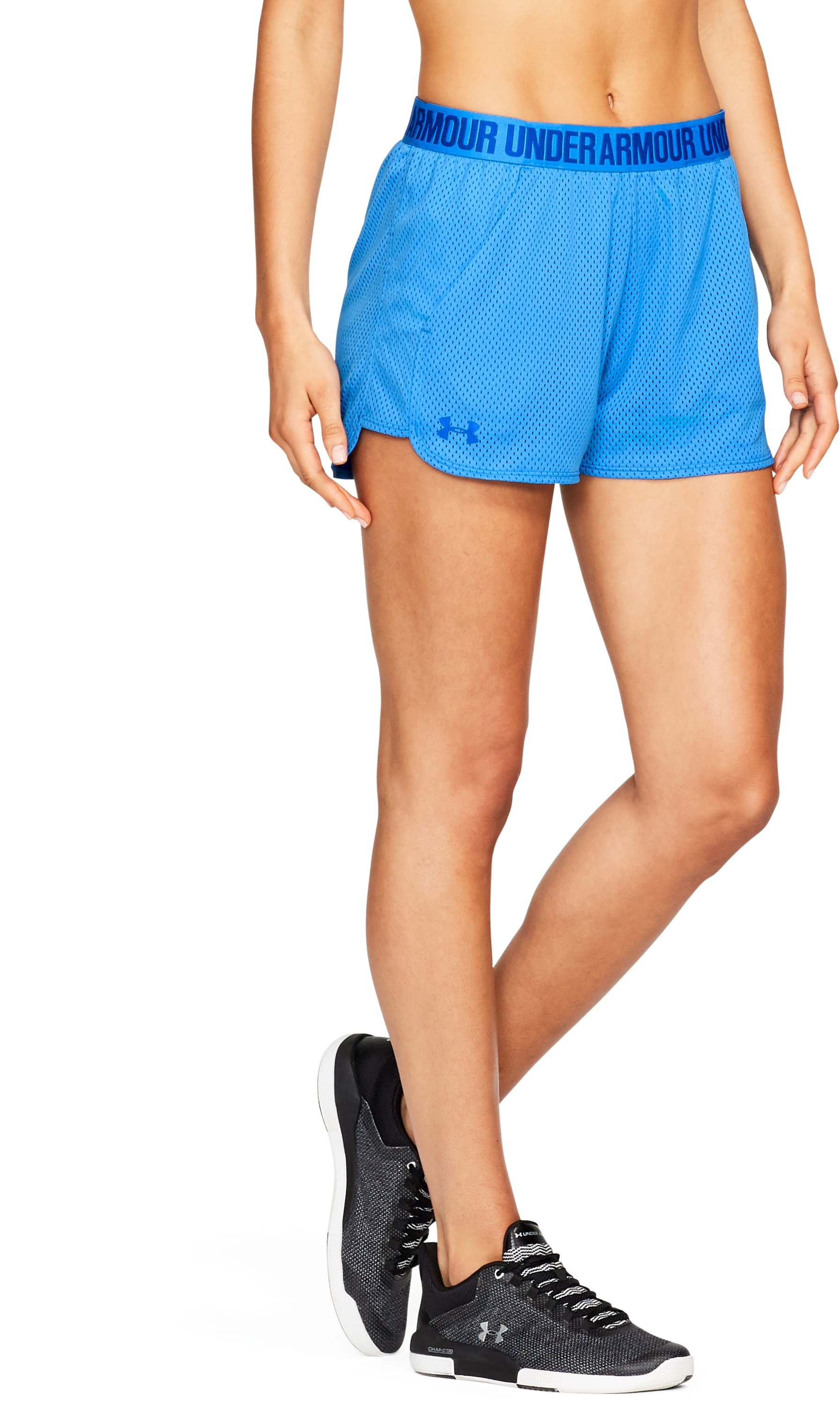 Women's UA Play Up Shorts 2.0 - Mesh, MAKO BLUE