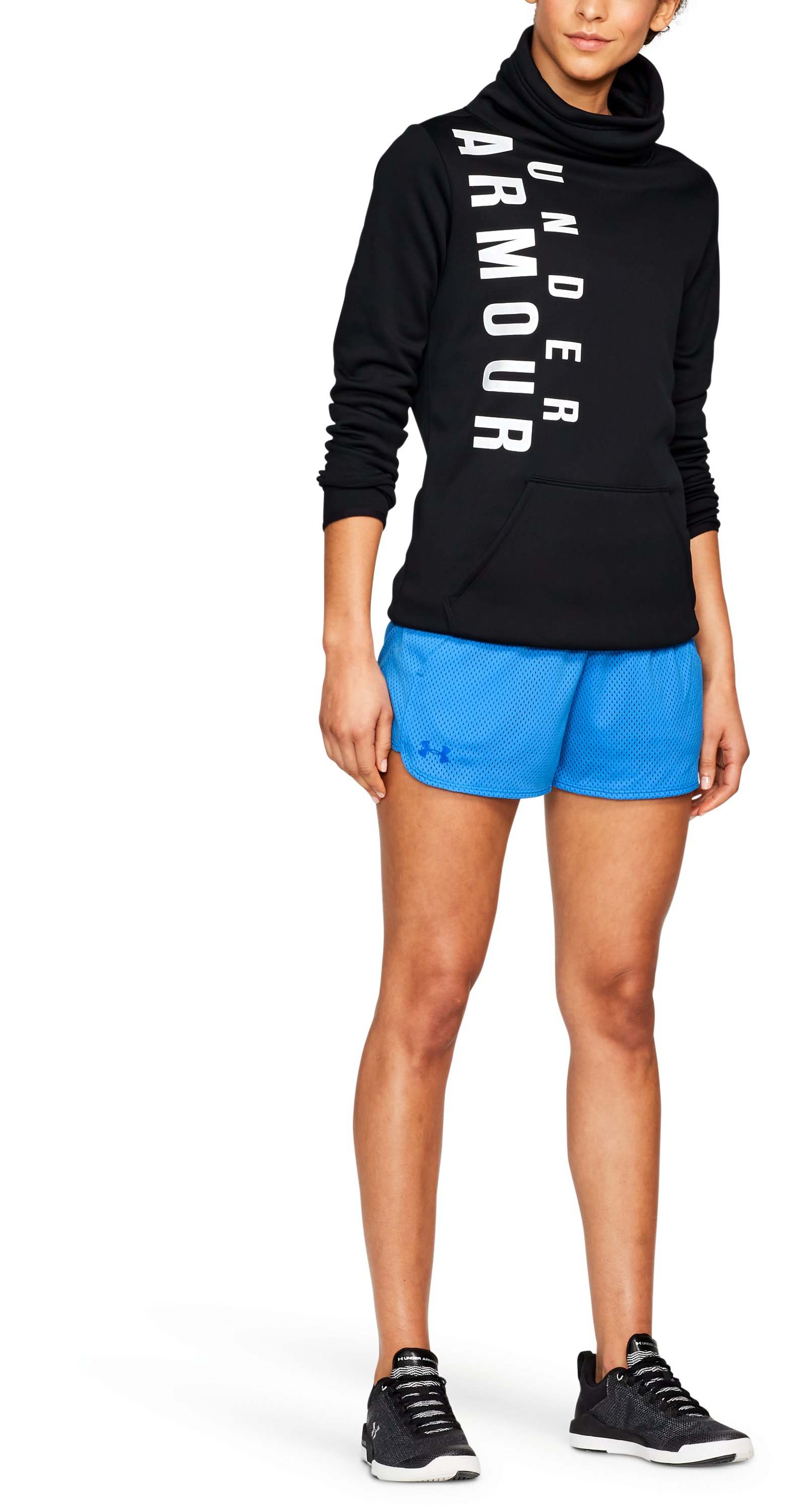 Women's UA Play Up Shorts 2.0 - Mesh, MAKO BLUE, undefined