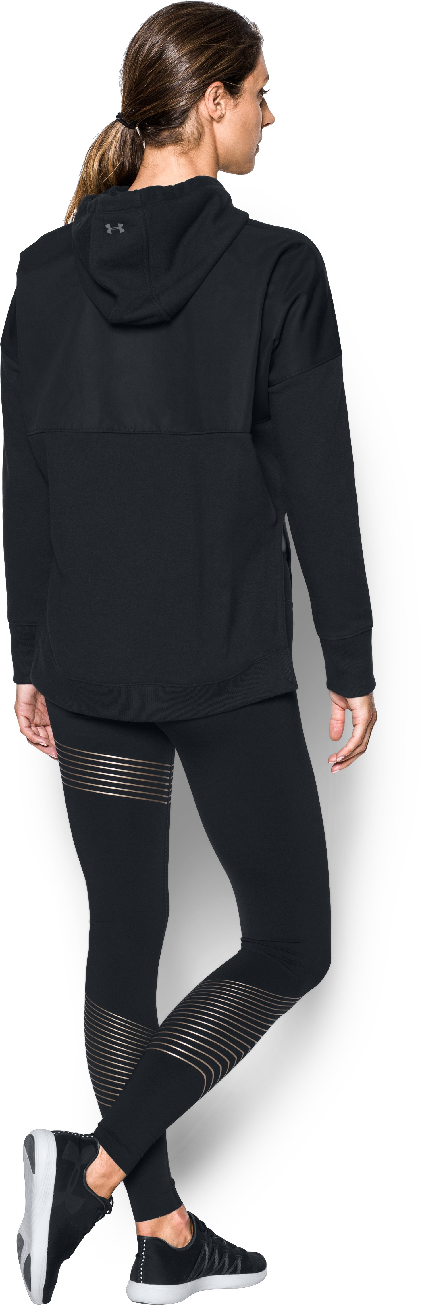 Women's UA Show Stopper Hoodie, Black , Back