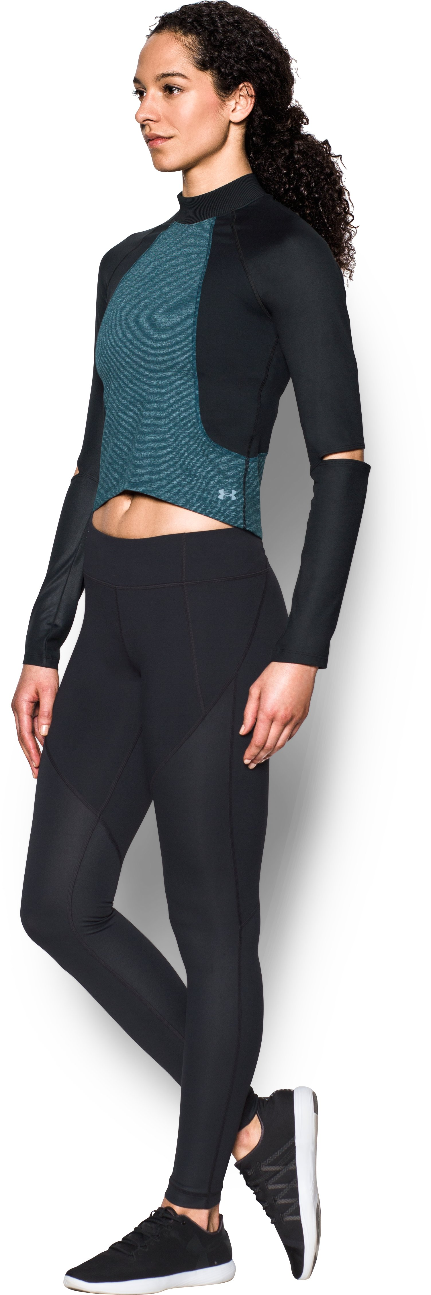 Women's UA Rehearsal Long Sleeve, NOVA TEAL, undefined