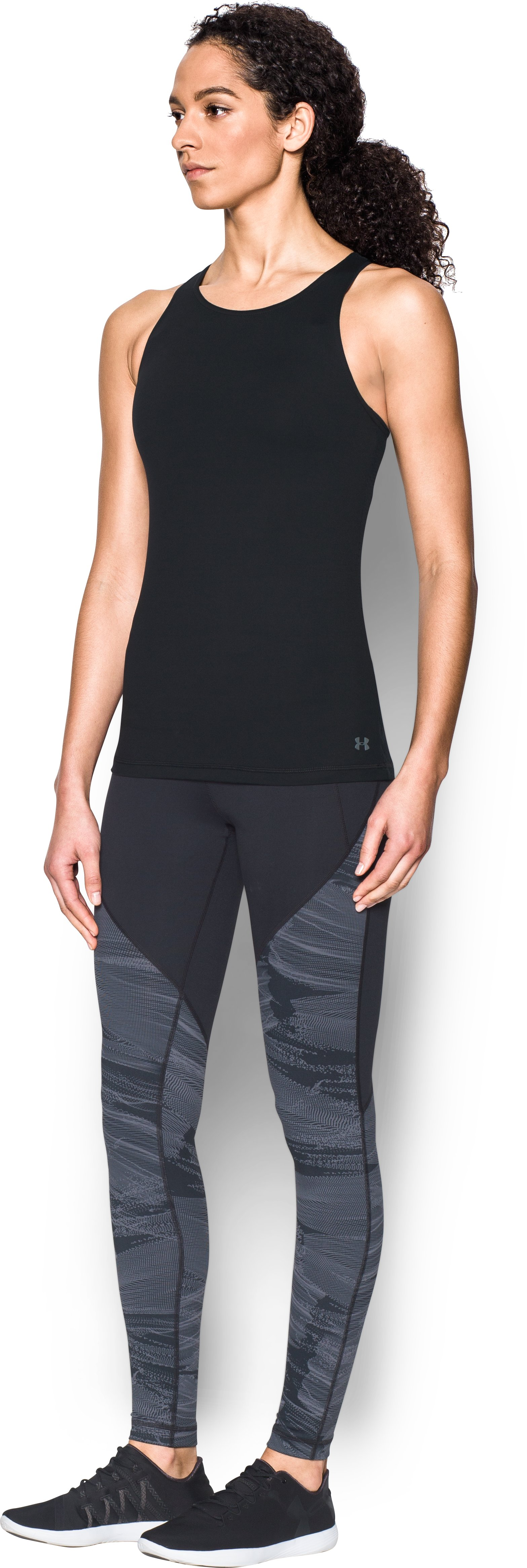 Women's UA Mirror Floral Tank, Black , undefined