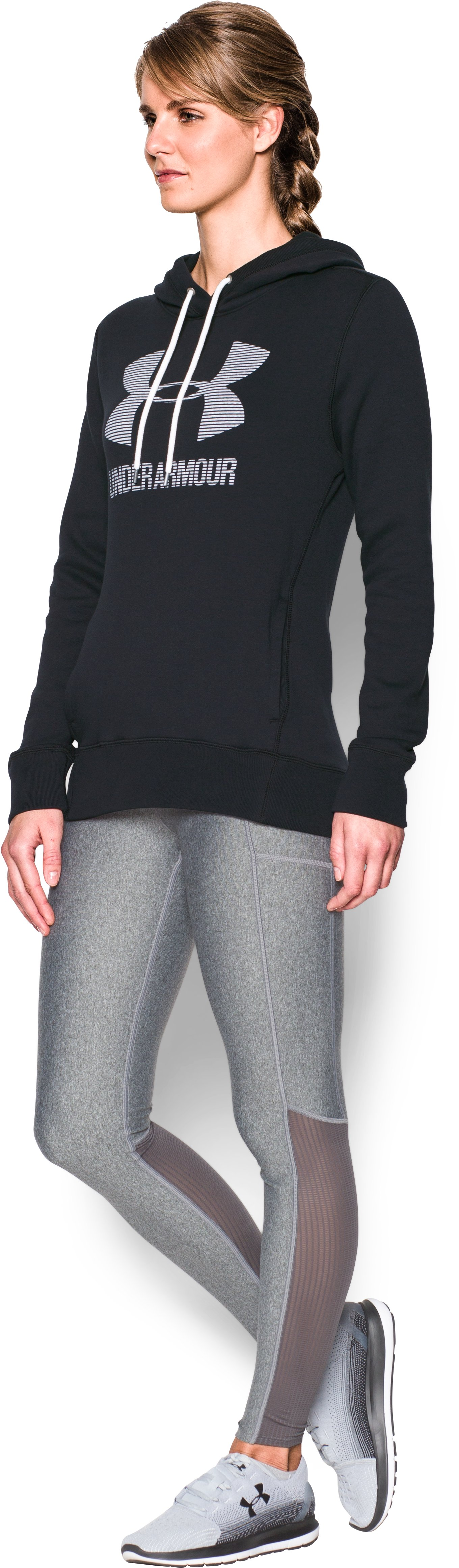 Women's UA Favorite Fleece Sportstyle Hoodie, Black