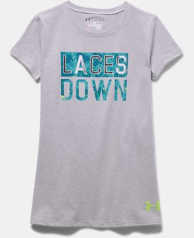 Girls' UA Laces Down Short Sleeve T-Shirt