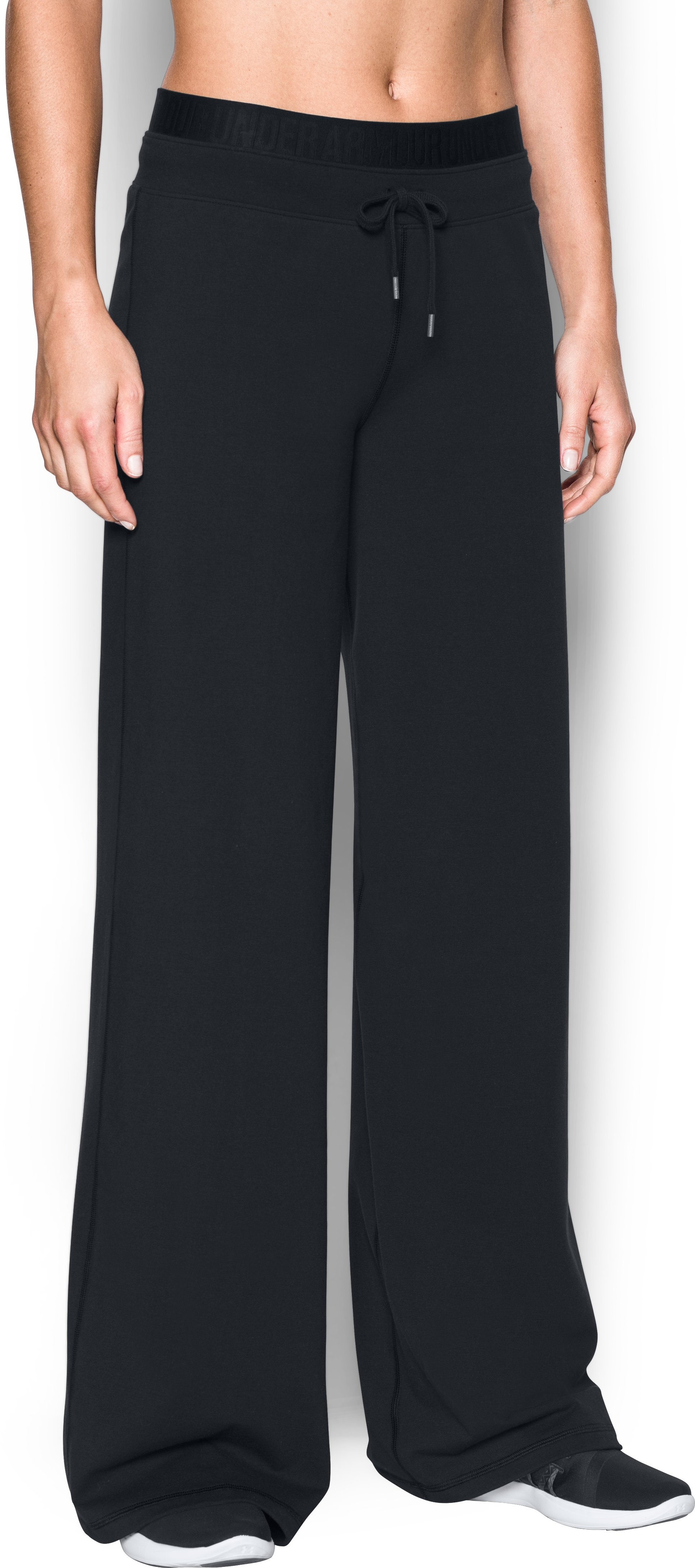 Women's UA Favorite Wide Leg Pant, Black , zoomed image