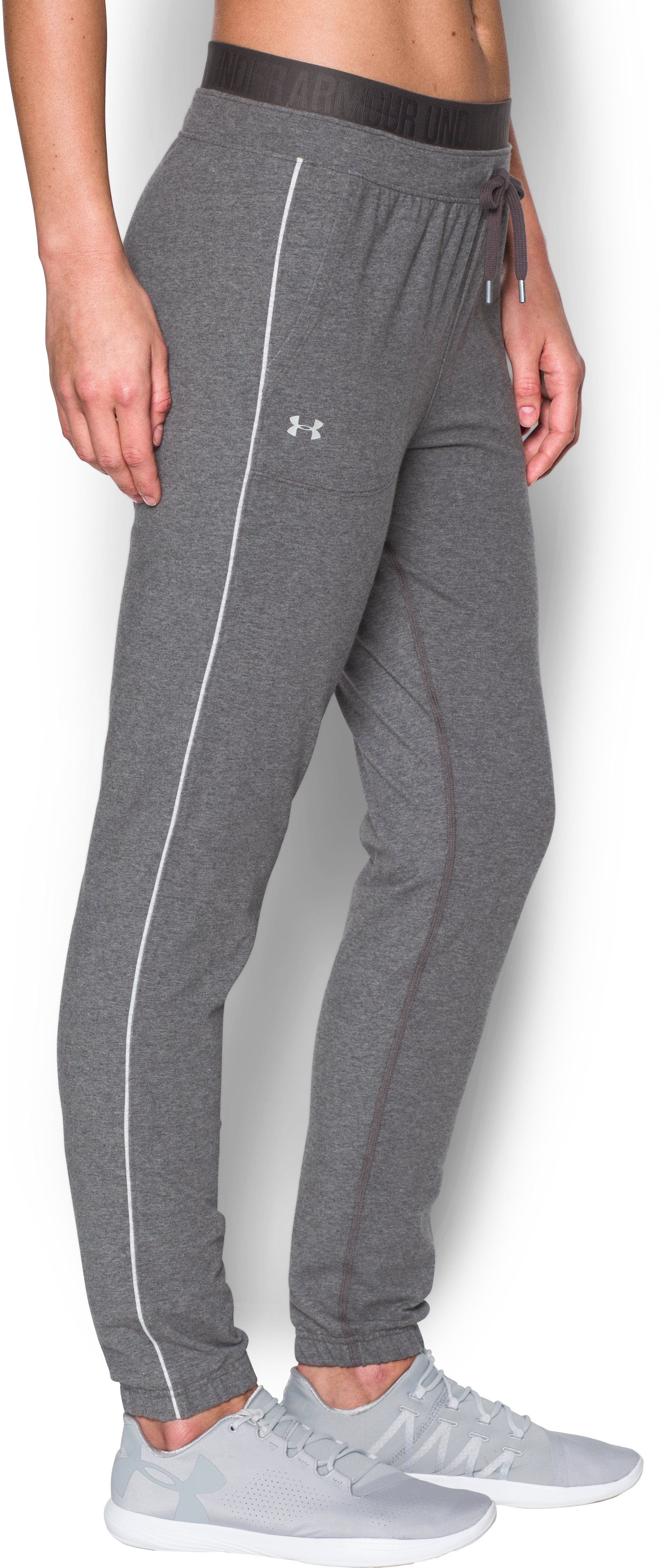 Women's UA Favorite Skinny Joggers, Carbon Heather,