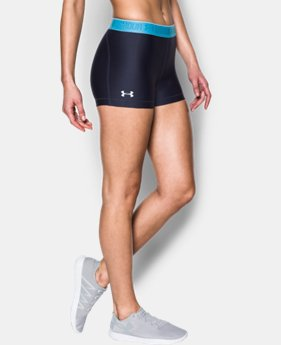 "Women's UA HeatGear® Armour 3"" - Shine waistband Shorts  1 Color $17.99 to $18.99"