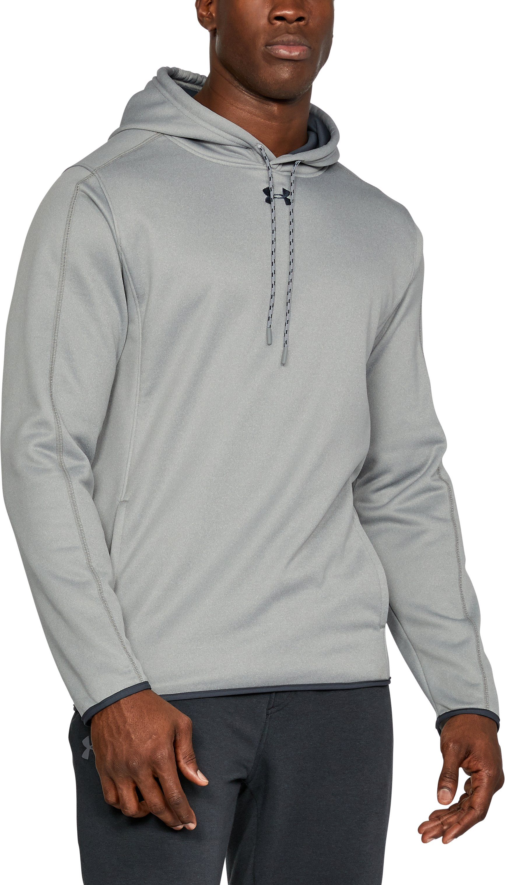 Men's UA In The Zone Hoodie, True Gray Heather,