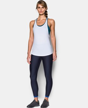 New Arrival Women's HeatGear® Armour Printed 2-in-1 Tank  1 Color $54.99