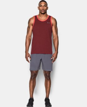 Men's UA Threadborne Heathered Tank  1 Color $15.74
