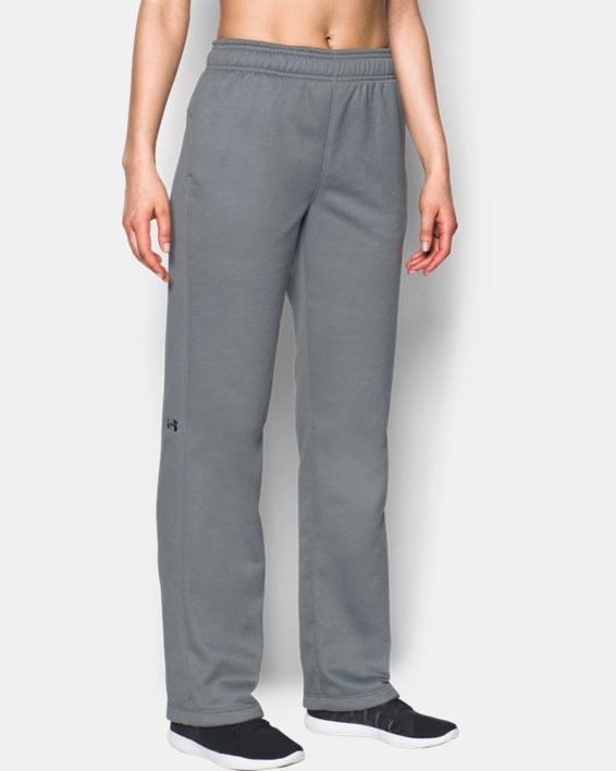 Women's  UA Double Threat Armour Fleece® Pants, Gray, pdpMainDesktop image number 2