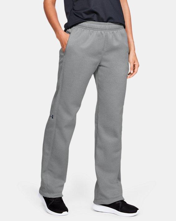 Women's  UA Double Threat Armour Fleece® Pants, Gray, pdpMainDesktop image number 0
