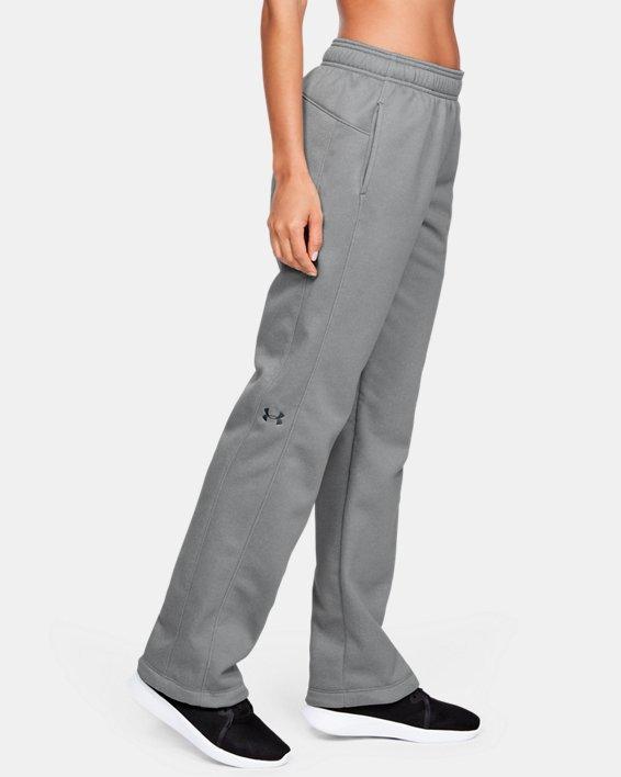 Women's  UA Double Threat Armour Fleece® Pants, Gray, pdpMainDesktop image number 4