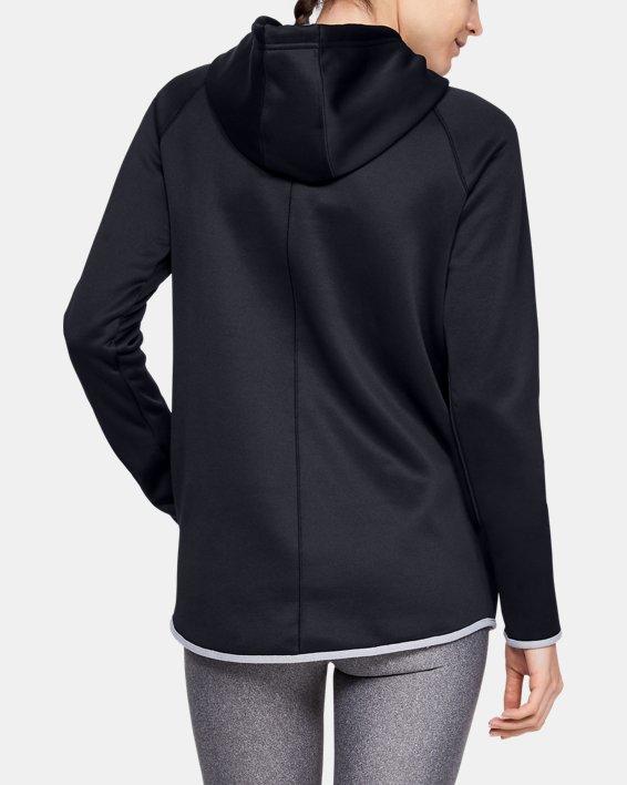 Women's  UA Double Threat Armour Fleece® Hoodie, Black, pdpMainDesktop image number 4