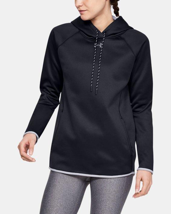 Women's  UA Double Threat Armour Fleece® Hoodie, Black, pdpMainDesktop image number 0