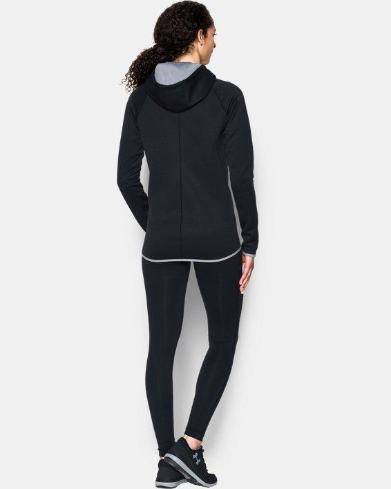 Women's  UA Double Threat Armour Fleece® Hoodie, Black, pdpMainDesktop image number 1