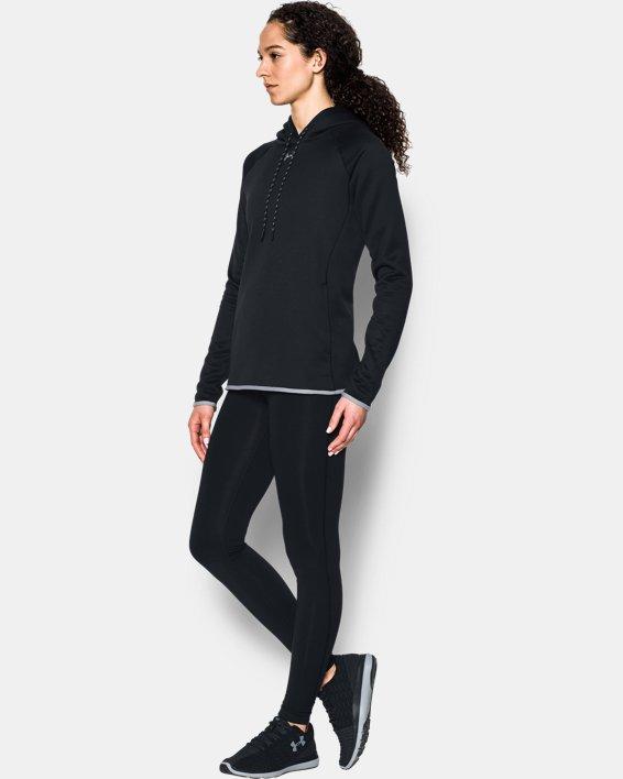 Women's  UA Double Threat Armour Fleece® Hoodie, Black, pdpMainDesktop image number 2