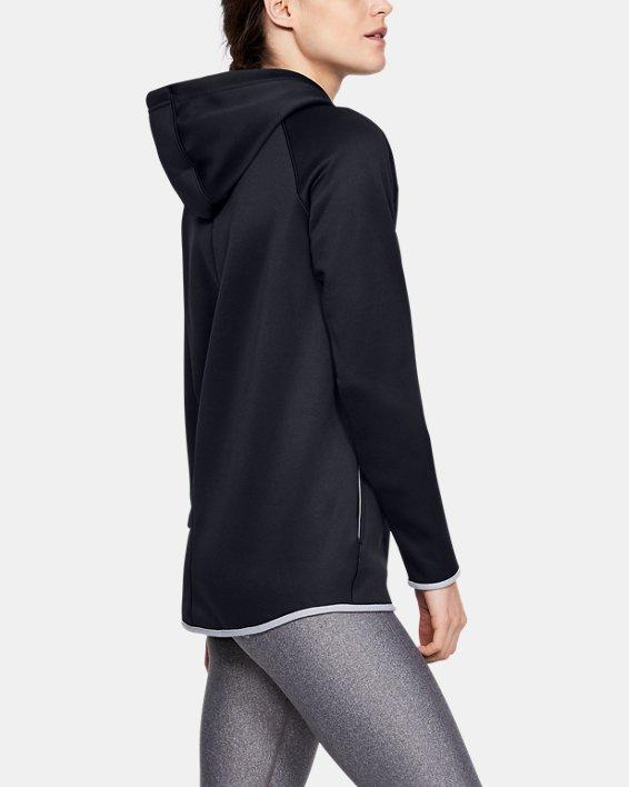 Women's  UA Double Threat Armour Fleece® Hoodie, Black, pdpMainDesktop image number 5
