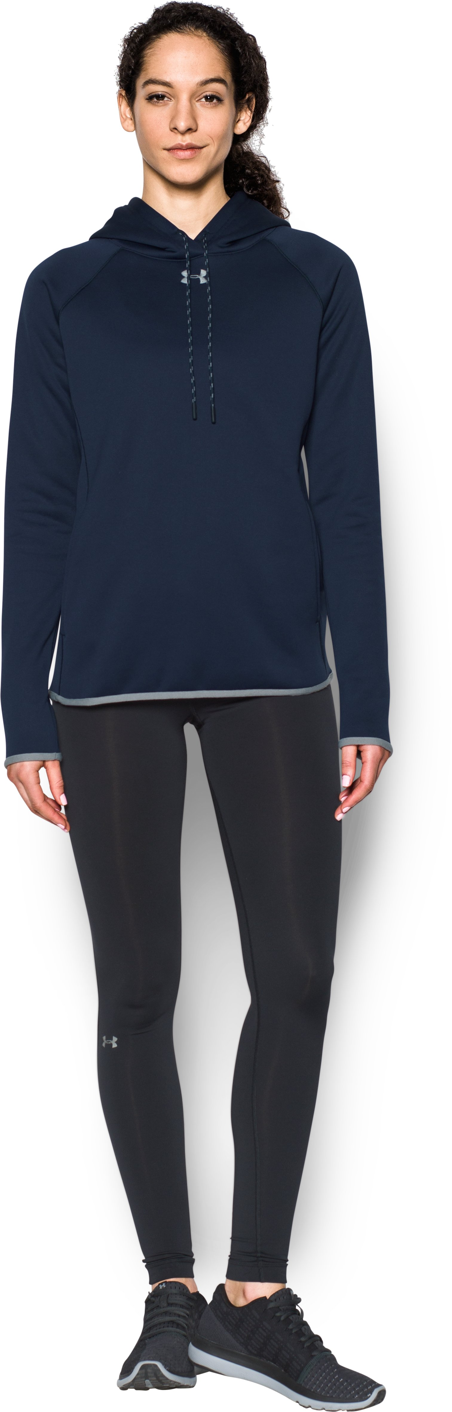 Women's  UA Double Threat Armour Fleece® Hoodie, Midnight Navy