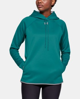 Women's  UA Double Threat Armour Fleece® Hoodie  3  Colors Available $59.99