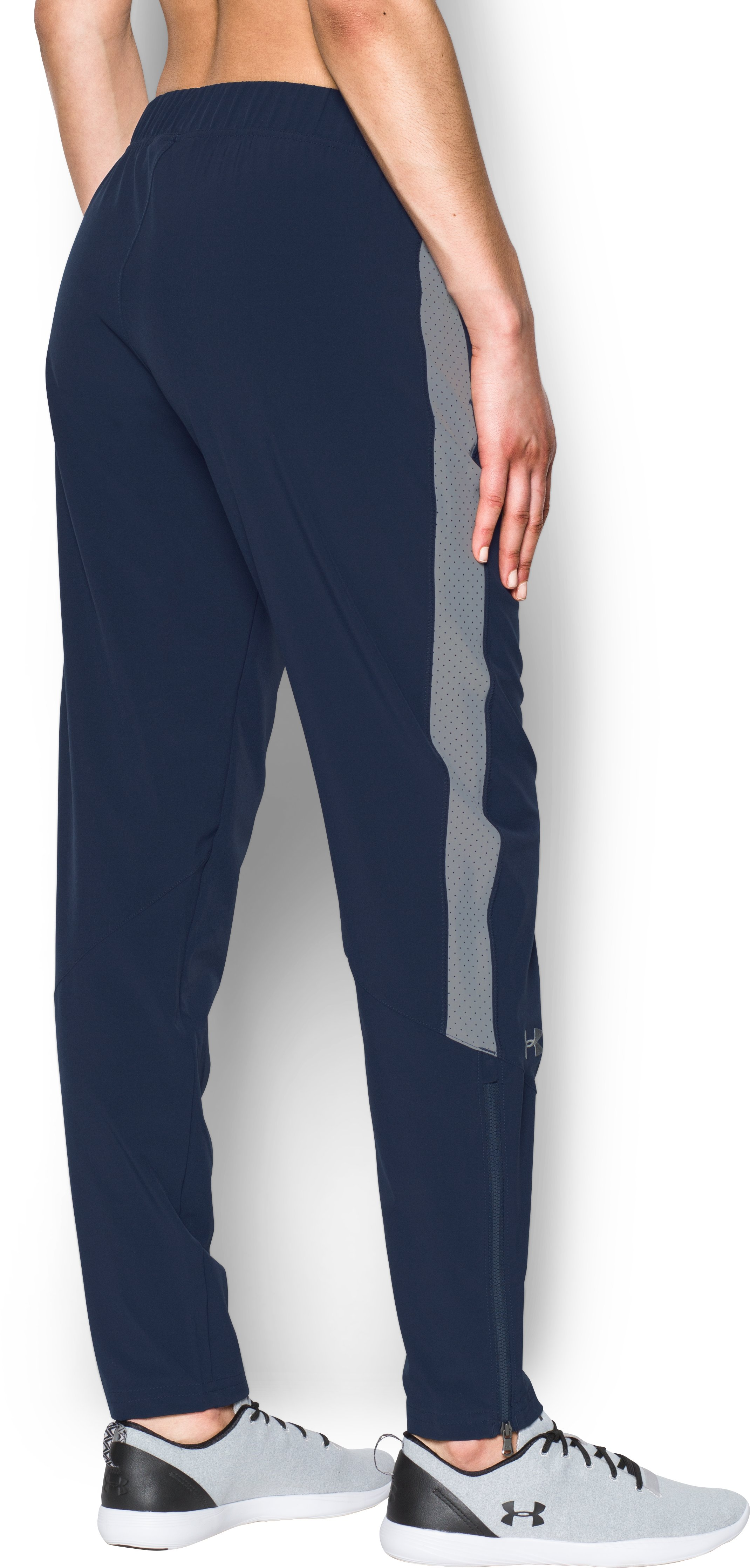 Women's UA Squad Woven Pants, Midnight Navy,